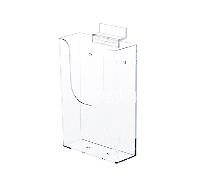 Clear Acrylic Slatwall Mount Brochure Holder