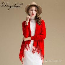 Женский Стиль кардиган шарф чистый Цвет дизайн шерсти и кашемира смешанный Материал свитер