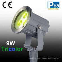 Tricolor LED Landscape Light, Full Color LED Garden Light, RGB LED Lawn Light