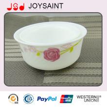 Heißer Verkauf neues Design handbemalt Costom Glasgeschirr Geschirr Glaswaren Footed Bowl