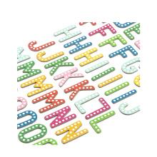 Подарочные рекламные пользовательские формы высечки печати стикер лист, пухлые буквы украшения виниловые наклейки