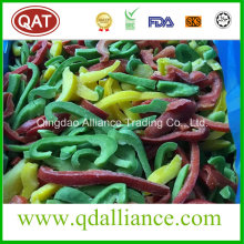 IQF Frozen Sliced Red Yellow Green Pepper