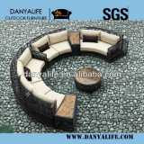 DYSF-D9801,Wicker Garden Patio Sofa Set,Rattan Outdoor Restaurant Sofa Chair with Tea/ Coffee Table,8 Seat Swimming Pool Sofa
