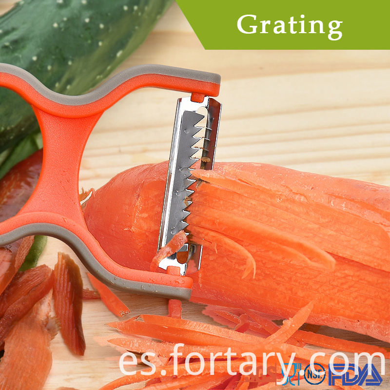 3pcs Peeler with Stainless Steel Blade