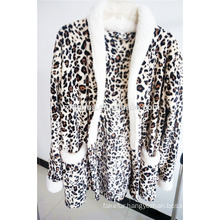 hot selling super soft fleece leopard pajama for women