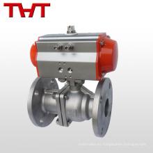 Válvula de bola compacta de acero inoxidable accionada neumáticamente