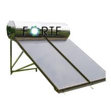 Colector solar de placa plana con cobre para intercambio de calor