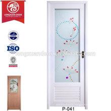Wholesale Cheap Custom UPVC Plastic Shower Doors Toilet Doors with glass