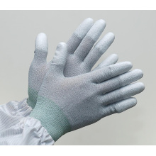 ZM 13Gauge Antistatic Carbon Fiber ESD Top Fit Gloves for Industrial Use