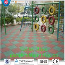 Telhas de Rubbr para Ginásio Segurança Externa Esportiva Telha de Pisos de Borracha, Telhas de Borracha para Parque Infantil