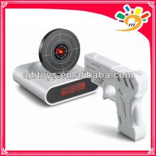 Neuheit-Gadget-lustiger LCD-Gewehr-Wecker u. Ziel-Schild-Spiel-Spielzeug