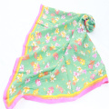 viscose quality flower  pattern printed little square scarf for women daily  adornment