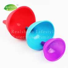 3 Piece Kitchen Essential Silicone Funnel Set
