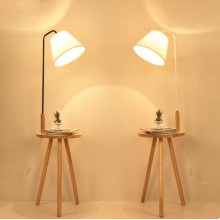Newest Fabric Wooden Standing Floor Lamp