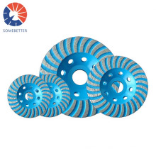 100-400mm Hard Concrete And Bricks Wholesale Price Welded Pcd Diamond For Epoxy Removal 22.23mm 7inch Grinding Cup Wheel