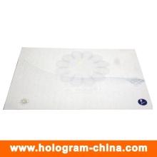 Certificado de seguridad anti-falsificación de marca de agua y UV de holograma de fibra