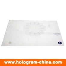 Certificado de seguridad de holograma de marca de agua y fibra ultravioleta anti-falsificación