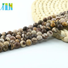 L-0145 AAA Grade Australian Zebra Jasper Rounds Mixed Color Brown Beads Natural Matte Gemstone Beads