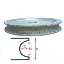 Automático de calidad suprema muela abrasiva segmento de diamante super x5000 vidrio borde ruedas taza de piedra