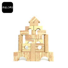 Melour EVA Educational Kids Foam Wooden Building Blocks