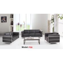 Moden Leder Büro Rezeption Möbel Sektionale Sofa (F86-3)