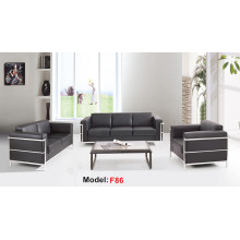 Moden Leather Office Reception Furniture Sectional Commercial Sofa (F86-3)