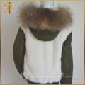 Neue Art-kundenspezifische preiswerte kurze Jacken-Frauen-Fox-Pelz-Parka