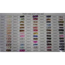 Tableau des couleurs de perles d'eau douce naturelle