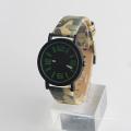 Armee grüne Uhr Armee Uhr, Edelstahl zurück Quarzuhr für Sport