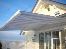 Aluminum frame caravan awnings for window