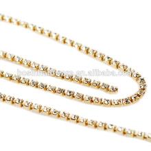 Fashion High Quality Metal AB Rhinestone Chain Trim