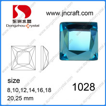 Dz-1028 Square Flat Back Machine Cut Large Size Glass Stones for Jewelry