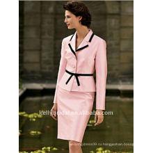 Вау!розовый с черным пунктиром мать невесты платье стиль