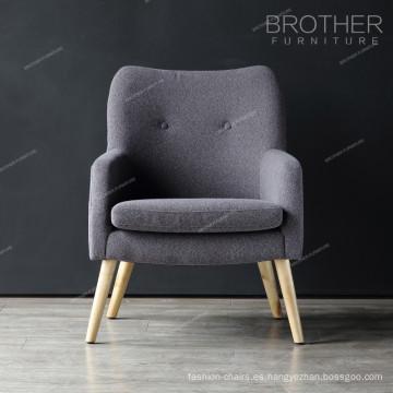 American Fabric Sala de estar moderna simple sala de estar única silla de acento