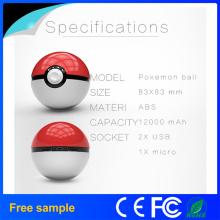 Mobile Game Cosplay Pokemon Go Pokeball 12000 mAh Carregador Rápido Carregador de Carga Figura Carregador