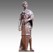 Große Figur Statue Saint George Dekoration Bronze Skulptur Tpls-024