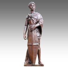Grande Figure Statue Saint George Décoration Bronze Sculpture Tpls-024