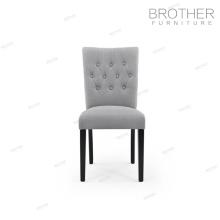 Tela de tapicería antigua silla de comedor de terciopelo copetudo para comedor