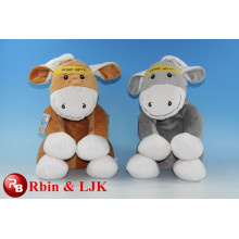 OEM soft ICTI plush toy factory donkey plush toy