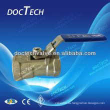 Válvula de bola sola pieza reducir puerto bloqueo palanca disponible 1000 WOG