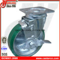 6 Inch Japanese PU Swivel Caster Wheels with Brake