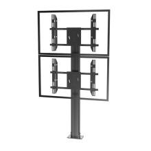 "Public TV Floor Stand Floormount Base Dual Screen 30-60"" (AVA 201E)"