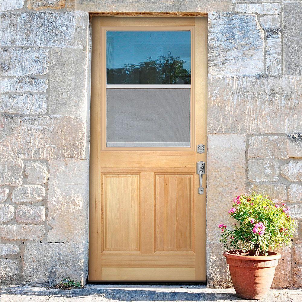 China vent lite 2 panel unfinished fir front door slab - Exterior wood door manufacturers ...