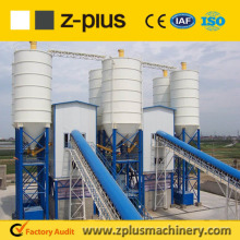 100t cement silo equipped HZS60 wet ready mix plant with CE and ISO certificate