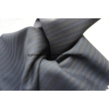 Colorful Strip Navy Wool Fabric of 100% Wool