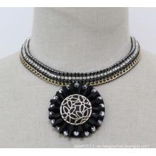 Frau Mode Charme Kristall Chunky Choker Kragen Anhänger Halskette (JE0145)