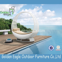High Quality Pool Wicker Rattan Round Sun Lounger