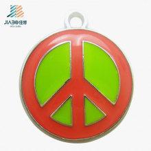 Custom Logo Metal Craft Enamel Colorful Metal Pendant for Promotion