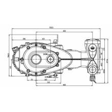 Bombas de atuador Triplex de alto fluxo com caixa de engrenagens 171L