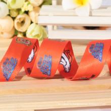 Cheap wholesale custom thermal transfer printing satin ribbon